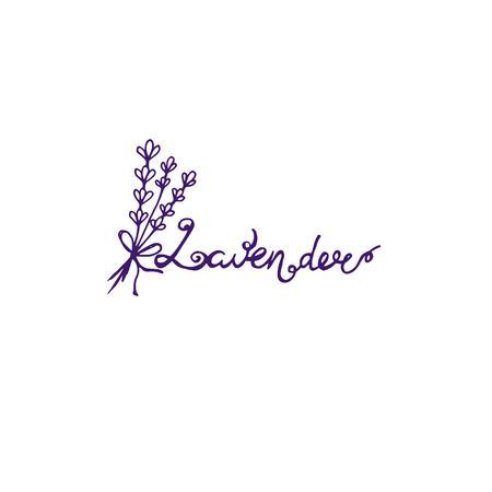 Template logo design of abstract icon lavender. Vector illustration Banque d'images - 111610521