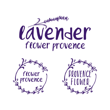 Set of template logo design of abstract icon lavender. Vector illustration Banque d'images - 111610523