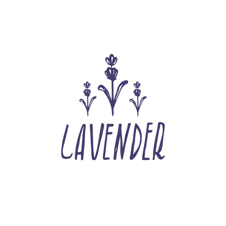 Template logo design of abstract icon lavender. Vector illustration Banque d'images - 111610591