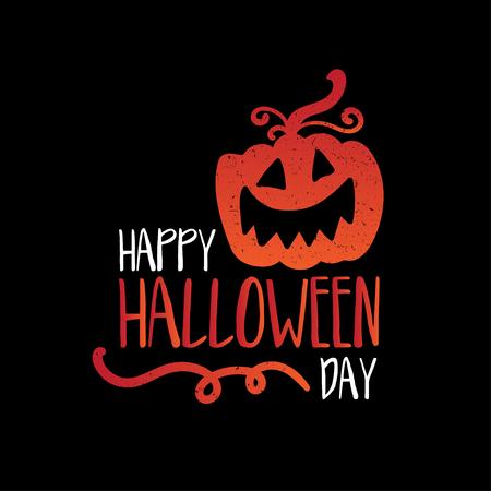 Art card for Happy Halloween.Design template for flyers, posters,ecards, invitations, brochures. Creative style. Vector illustration Ilustração