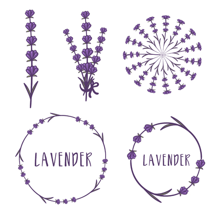 Set of template logo design of abstract icon lavender. Vector illustration Banque d'images - 111610799