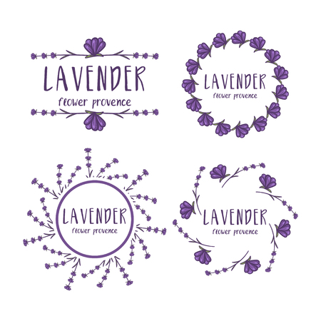 Set of template logo design of abstract icon lavender. Vector illustration Banque d'images - 111610801