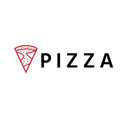 abstract pizza slice vector design template