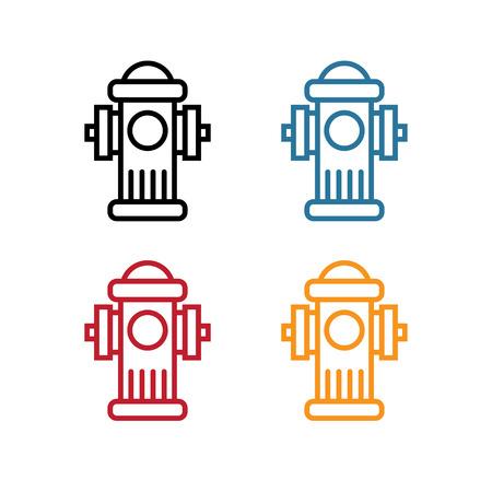 line art fire hydrant vector design template Ilustração