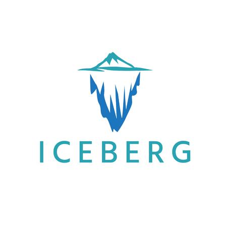 abstract iceberg vector design template Ilustração