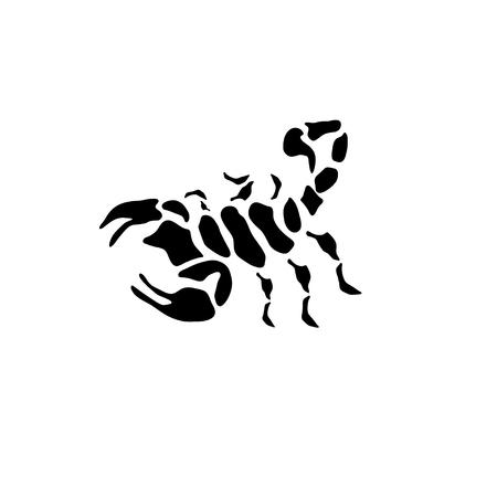 abstract black scorpion vector design template