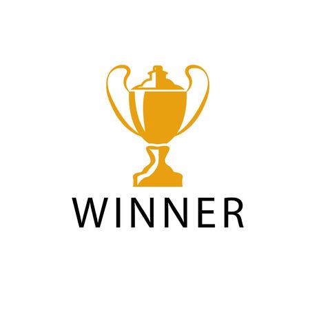 gold winner cup vector design template