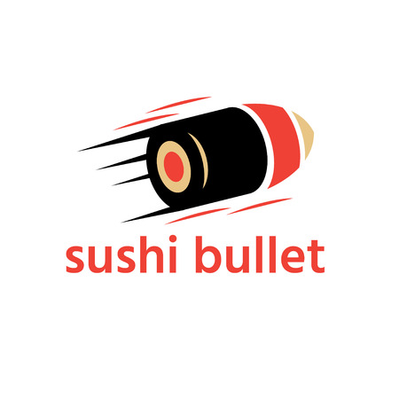 sushi delivery abstract vector design template with bullet Ilustração