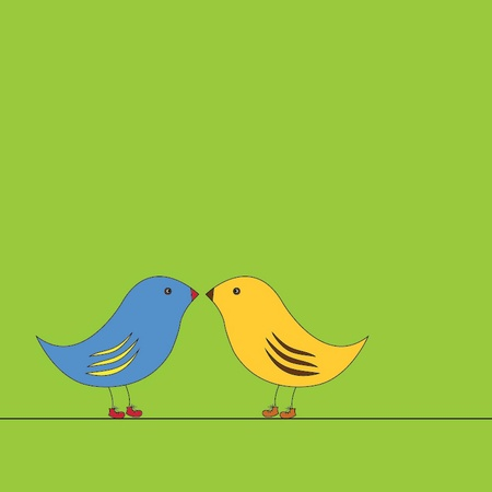 vector illustration of two birds