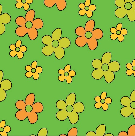 vector illustration background of the flowers