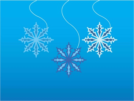 vector illustration of a snowflake  Vector