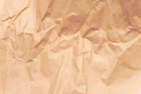 Crumpled paper texture background, sheet of used paper, recaclable blank paper, copy space, no people, good background, for text or graphic design.