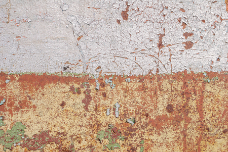 chipped paint on iron surface, background of rusty metal, texture