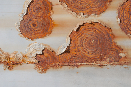 rusts: surface of rusty iron with remnants of old paint, grunge metal surface, texture background