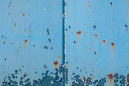 chipped paint on iron surface Stock Photo