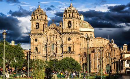 la compania: Plaza Mayor with the Church of La Compania Cusco, Peru