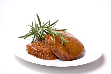 exemption: Raw steak with rosemary