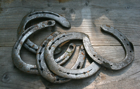 ancient blacksmith: horseshoe