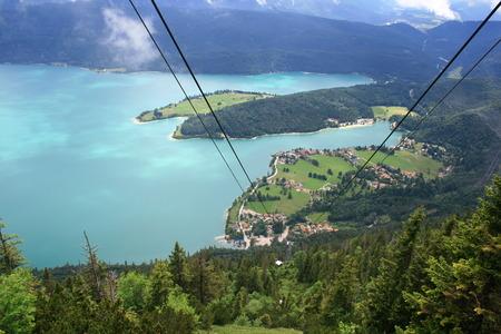 Walchensee in Beieren Duitsland Stockfoto