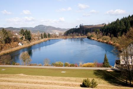 Forebay van het Lake Sorpesse