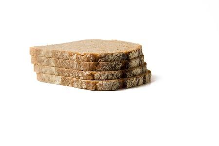 Vier sneetjes brood Stockfoto