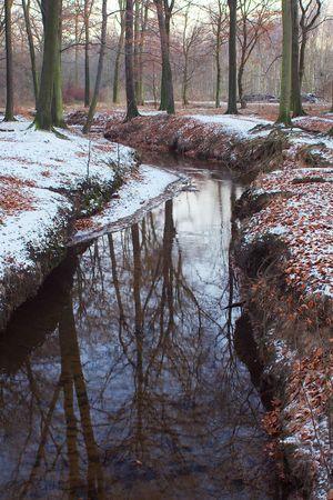 wintrily: Un piccolo torrente in inverno. Prese a Duisburg  Germania.