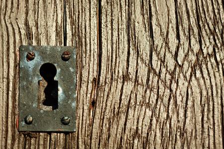 antique keyhole: Old keyhole