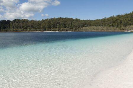 Pristine shore of lake Mckenzie on Fraser Island, Queensland, Australia