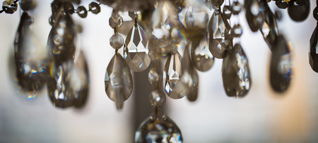 crystal chandelier, lamp in macro photography, glamour background