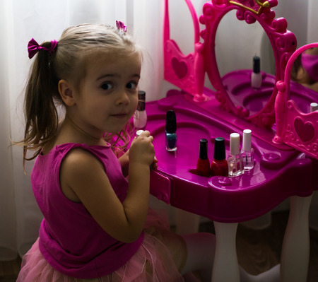 perseverance: beautiful little girl, show emotions, beauty perseverance Princess