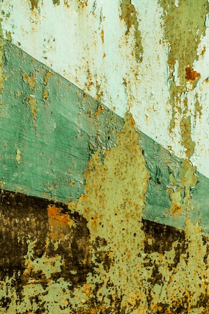 peeling paint: Texture of rusty metal with peeling paint. Rusty background. Front view with copy space. Background for design.