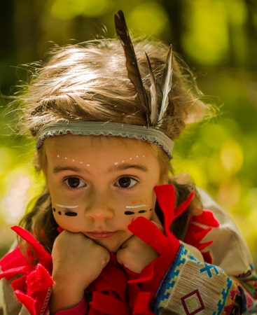 beautiful little girl playing outdoors in Indian portrait,emotion Banque d'images