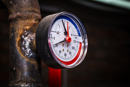 Pipelines With Pressure Gauge Water Pressure, Central Heating ...