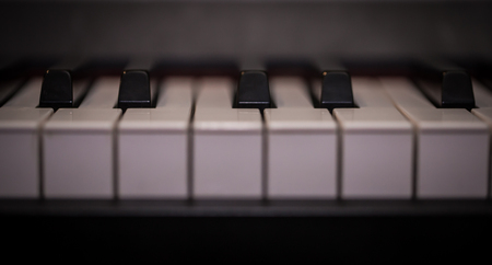 acoustically: piano keys close-up, musical instrument, beautiful background