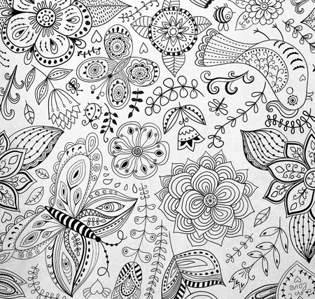 Abstraction Coloring Pages For Adultsstress Relief Top View