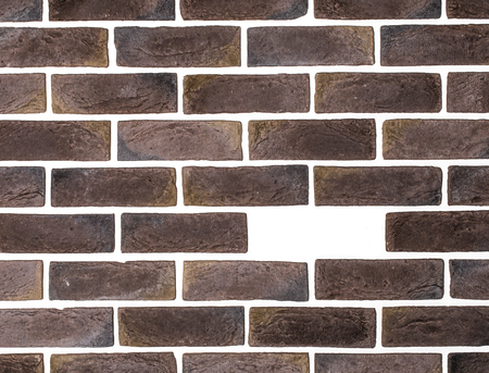 foundation cracks: light brown brick wall white background ,creative back-phonons ,close-up, place for text
