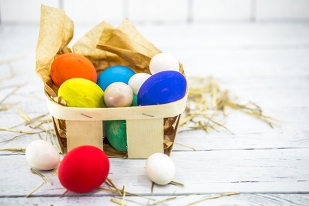 Beautiful Easter composition Stock Photo