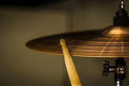 hihat plays a drum stick on the hi hat or ride cymbal drums