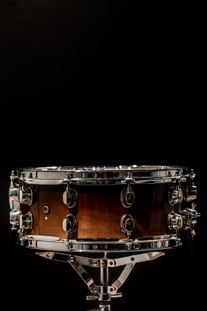 snare on a black background, musical instrument, musical concept