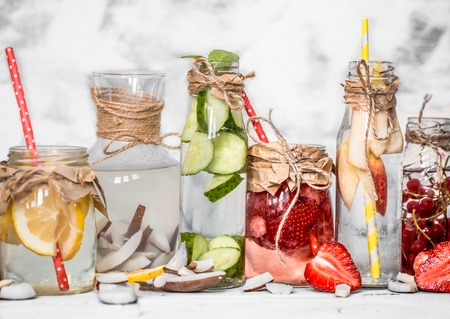 flavored: Detox summer drink with fruit