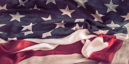 National Patriotic symbols. The old American flag.The concept of patriotism and celebration