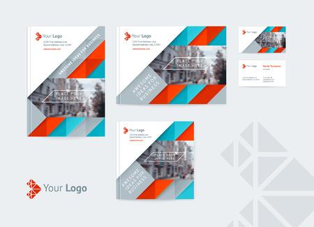 Set of corporate identity design template.
