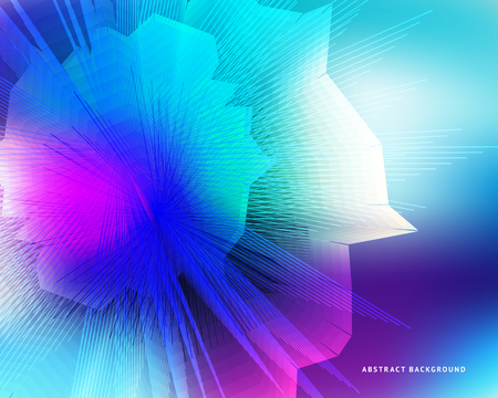 Abstract background on the theme of blockade and crypto currency in blue and purple colors for the design of banners, websites, magazines, booklets.