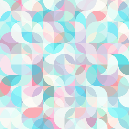 Abstract vector colorful geometric harmonic wave background in modern style Illustration