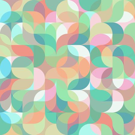 Abstract colorful geometric harmonic wave pattern Illustration
