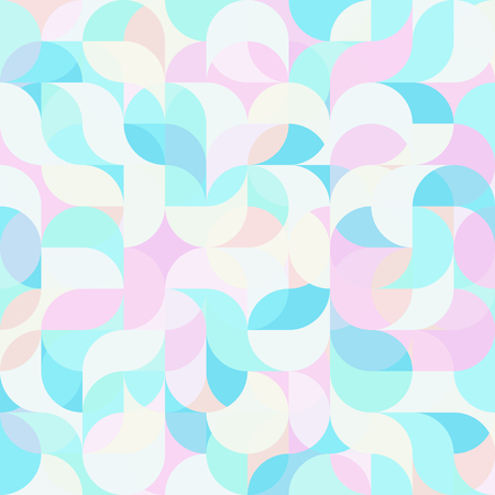 Abstract vector colorful geometric harmonic wave background in modern style for a flat pattern design booklet, folder, or for decoration and background Illustration