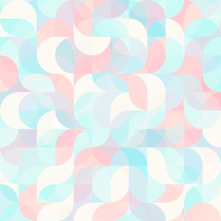 Abstract colorful geometric harmonic wave Illustration
