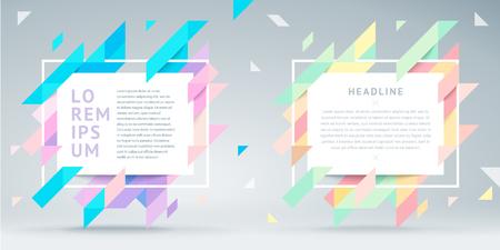 Cornice luminosa moderna di vettore per il testo. Cornice geometrica elegante e dinamica. Elemento per la progettazione di biglietti da visita, inviti, carte regalo, volantini, brochure, poster, volantini, sconti e vendite.