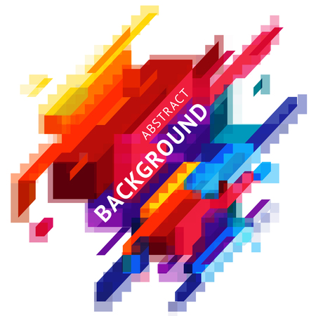 Minimalistic-Design, kreatives Konzept, geometrisches Element des modernen diagonalen abstrakten Hintergrundes. Rote, orange, blaue und gelbe diagonale Linien Standard-Bild - 93858142