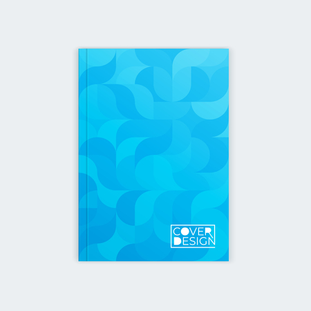 Vertical cover template a4 a5. Wavy abstract design for the design of booklet, postcard, flyer, poster, website.